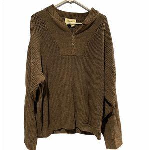 EDDIE BAUER Brown Fisherman's Sweater